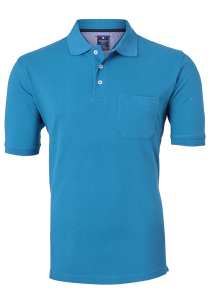 Redmond Regular Fit poloshirt, turquoise blauw