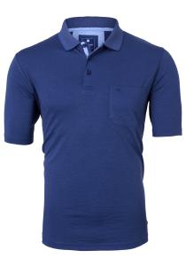 Redmond Regular Fit poloshirt, jeansblauw melange
