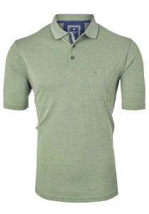 Redmond Regular Fit poloshirt, groen melange