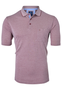 Redmond Regular Fit poloshirt, bordeaux rood melange