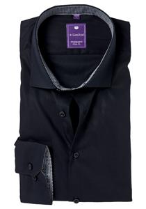 Redmond Slim Fit overhemd, zwart (contrast)