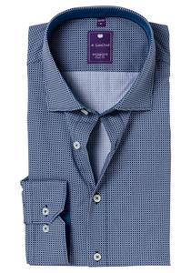 Redmond Slim Fit overhemd, blauw dessin (contrast)