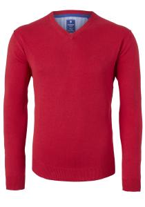 Redmond heren trui katoen, V-hals, rood