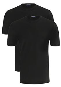 Schiesser American T-shirts O-hals 2-pack, zwart