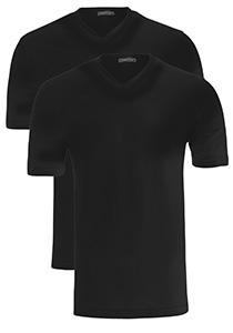 Schiesser American T-shirts V-hals 2-pack, zwart