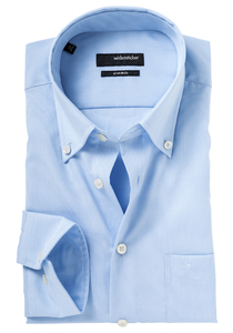 Seidensticker Modern Fit, blauw (button down)