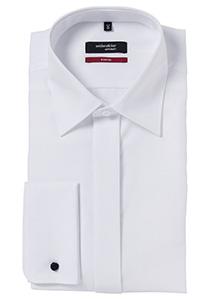 Seidensticker Modern Fit overhemd, wit smoking hemd Kent kraag