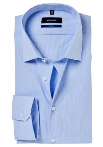 Seidensticker Shaped Fit overhemd, lichtblauw structuur