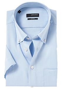 Seidensticker Modern Fit korte mouw, licht blauw (Button Down)
