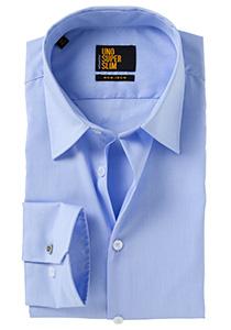 Seidensticker Uno Super Slim overhemd, blauw (Fil a Fil)