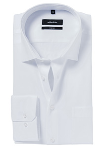 Seidensticker Comfort Fit overhemd, mouwlengte 7, wit