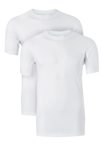 Ten Cate Basic heren T-shirts O-hals, 2-pack, wit