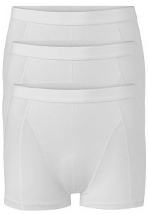 Ten Cate Basics heren boxers (shorty), 3-pack, wit