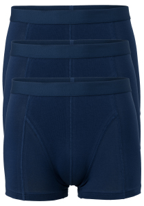 Ten Cate Basics heren boxers (shorty), 3-pack, blauw