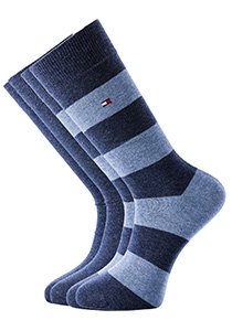 Tommy Hilfiger herensokken (2-pack), rugby jeans blauw gestreept