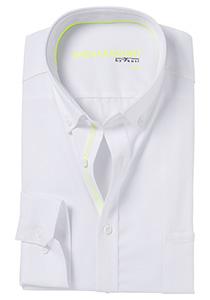 Venti Modern fit overhemd, wit (neon contrast)