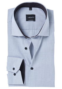 Venti Modern Fit overhemd, zwart geruit (contrast)