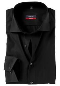 ETERNA Modern Fit overhemd, zwart