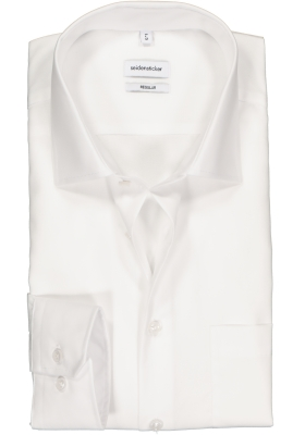 Seidensticker regular fit overhemd, wit