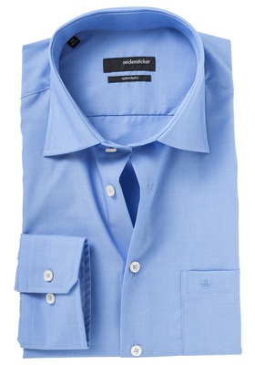 Seidensticker Modern Fit overhemd, mouwlengte 7, blauw