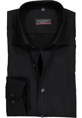 ETERNA modern fit overhemd, mouwlengte 7, poplin heren overhemd, zwart