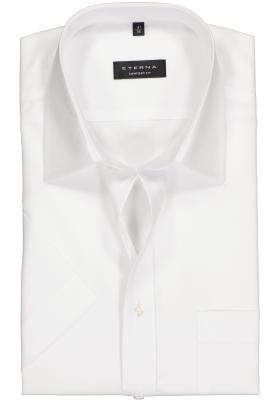 ETERNA comfort fit overhemd, korte mouw, poplin heren overhemd, wit