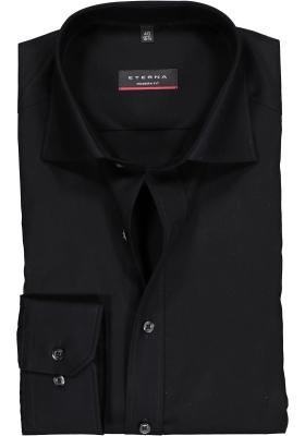 ETERNA modern fit overhemd, poplin heren overhemd, zwart
