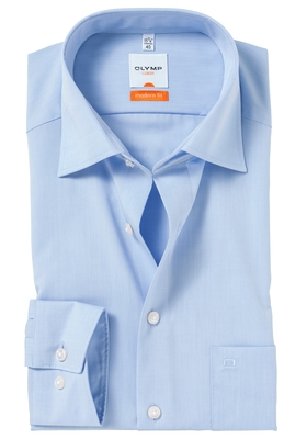 OLYMP Modern Fit overhemd, mouwlengte 7, licht blauw