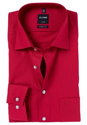 OLYMP Modern Fit overhemd, rood