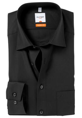 OLYMP Modern Fit overhemd, zwart