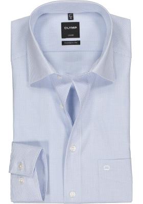 OLYMP Luxor modern fit overhemd, blauw met wit geruit