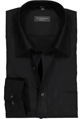 ETERNA comfort fit overhemd, poplin heren overhemd, zwart