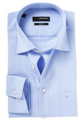 Seidensticker Regular Fit overhemd, blauw fijn motief