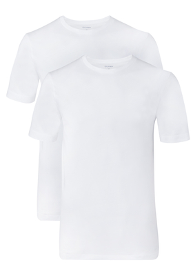 OLYMP T-shirts (2-pack), O-hals, wit