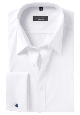 ETERNA Comfort Fit overhemd dubbele manchet, wit