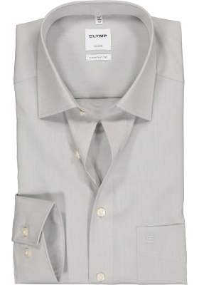 OLYMP Luxor comfort fit overhemd, lichtgrijs