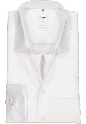 OLYMP Luxor comfort fit overhemd, mouwlengte 7, wit