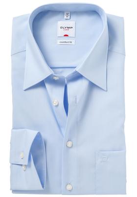 OLYMP Comfort Fit overhemd, mouwlengte 7, licht blauw