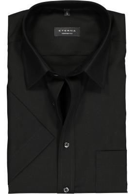 ETERNA comfort fit overhemd, korte mouw, poplin heren overhemd, zwart
