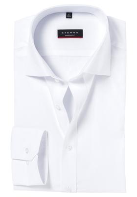Eterna Modern Fit overhemd, Mouwlengte 7, wit