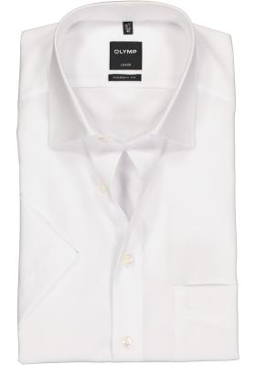 OLYMP Luxor modern fit overhemd, korte mouw, wit