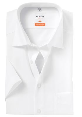 OLYMP Modern Fit, overhemd korte mouw, wit