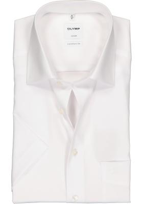 OLYMP Luxor comfort fit overhemd, korte mouw, wit