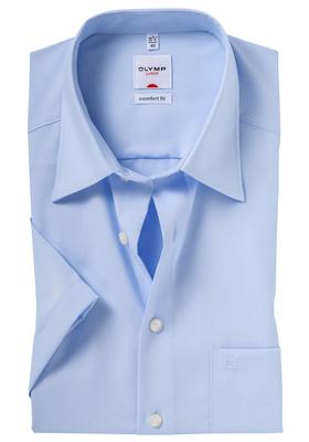 Overhemd OLYMP Comfort Fit, korte mouwen, blauw