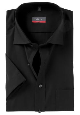 Eterna Modern Fit overhemd, korte mouw, zwart