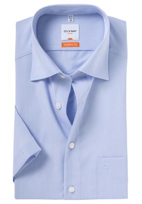 OLYMP Modern Fit, overhemd korte mouw, licht blauw