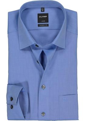 OLYMP Luxor modern fit overhemd, middel blauw
