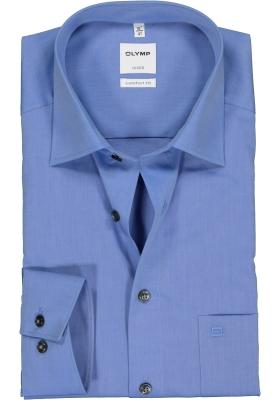 OLYMP Luxor comfort fit overhemd, middenblauw