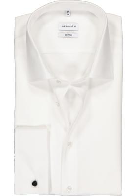 Seidensticker Shaped Fit overhemd dubbele manchet, wit