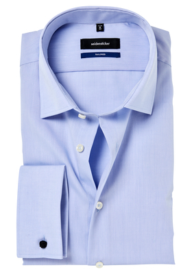 Seidensticker Tailored Fit, dubbele manchet, blauw